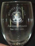 engraved wine glass