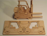 laser cut corporate forklifts