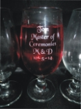 wedding bridal party glasses