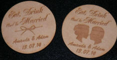 engraved mdf coasters