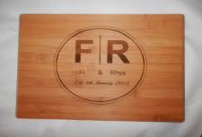 engraved wedding board