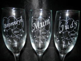 engraved birthday champagne glasses