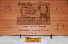 engraved photo board