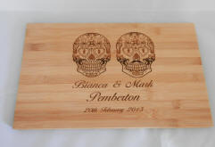 engraved bamboo board