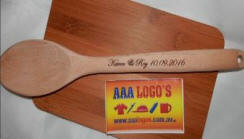 engraved wedding wooden spoon