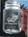 engraved mason jar