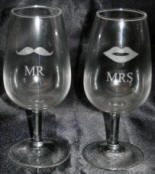 engraved mr and mrs glasses