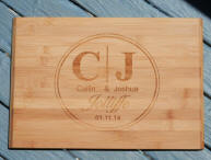 engraved wooden chopping board