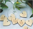 engraved mdf wedding glass charms